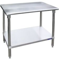 L&J Sg14108, 14x108-Inch Stainless Steel Work Table with Galvanized Undershelf