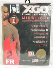XGO Phase 2 Flame Retardant FR MID Long Sleeve Crew Shirt LARGE TAN 499 UPF 25+