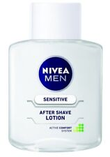 2 x Nivea Men Sensitive After Shave Lotion - 100 ml -FREE SHIP