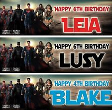 2 X personalized birthday banner Justice league superman batman children party