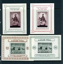 Belgium outstanding selection of 4 Rare Mh Soviner Sheets - Nice