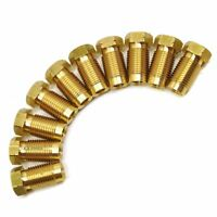 """Brass Brake Pipe Fittings M10 x 1mm Male 10 PACK for 3/16"""" Pipe FL12"""