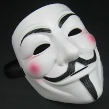 2 Anonymous Vendetta Guy Masquerade Costumes Face Mask Halloween Bonfire Night