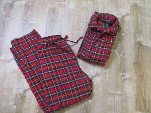 Ralph Lauren Polo Flannel Pajamas Set Mens M Regular Red Green Scotch Plaid