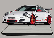 MODEL CARS, PORSCHE 911 GT3 RS-05, car passenger,11,8x 7,8 inches  with Clock