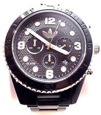 Adidas Brisbane Chronograph Black Dial Black Plastic Mens Watch ADH2947
