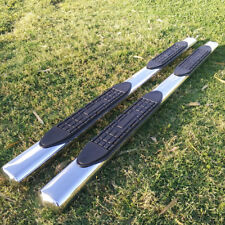 """Fit 09-14 Ford F150 Super Crew Cab 4"""" Running Boards Side Step Nerf Bar S/S Oval"""