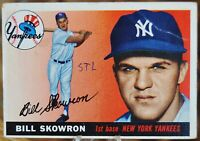 1955 Topps Baseball Card, #22 Bill Skowron, New York Yankees - VG/EX