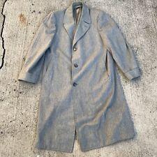 vintage 1950s 1960s Top Coat Overcoat Grey Wool The Roamer Venetian Covert