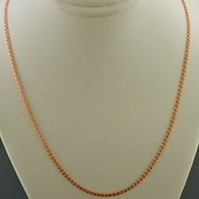 10K ROSE GOLD 24 INCH 2mm INTERLINK (LOVE) CHAIN NECKLACE FREE SHIPPING