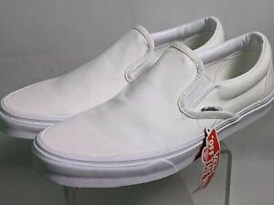 Vans Slip-On True White Canvas Classic Shoes All Size 11 mens