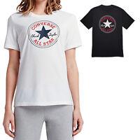 Converse Core Mandrin Patch T-Shirt Damen Haut à Manches Courtes Loisir Col Rond