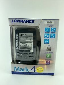 Lowrance Mark-4 Fishfinder GPS Chartplotter with Transducer, power cord & Mount