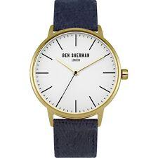 Ben Sherman WB009UG Men'sQuartz Watch Gold Plated Fabric Band 41MM