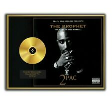 Tupac Poster, 2PAC GOLD/PLATINIUM CD, gerahmtes Poster HipHop Rap WallArt