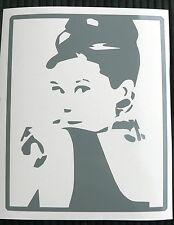 HOT SALE adesivo Audrey Hepburn SVENDITA wall sticker decal vynil vinile attrice
