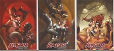 "Red Sonja Breygent - ""Red Sonja vs Thulsa Doom"" Set of 3 Chase Cards #RS-T1-T3"