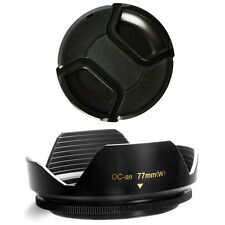 77mm Wide Flower Lens Hood and Lens Cap for Nikon AF 85mm f/1.4D AF 16-35mm f/4
