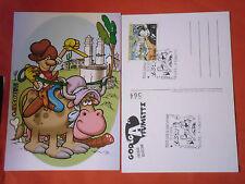 CARTOLINA DA COLLEZIONE 564-con francobollo PRATT E ANNULLO ZAGOR-GODEGA FUMETTI