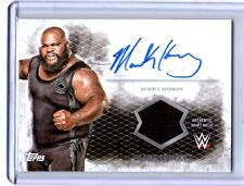 WWE Mark Henry 2015 Topps Undisputed Authentic Autograph Shirt Relic Card