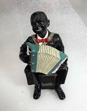 ACCORDIAN Band Music Player Character Figure Black Americana Figurine