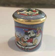 HALCYON DAYS DISNEY MICKEY MOUSE 1998 CHRISTMAS TRINKET BOX!
