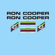 Ron Cooper Bicycle Decals-Transfers-Stickers - Black #4