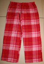 Womens Xhilaration Sleepwear Lounge Pajama Warm Comfy Pants Large Pink Plaids