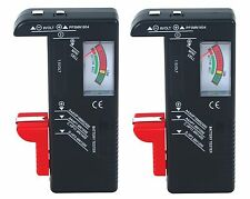 2 Universal Battery Tester(Aa, Aaa, C, D, 9V) for Energizer Duracell Batteries