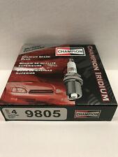 CHAMPION IRIDIUM Premium Iridium Spark Plugs 9805 Set of 4