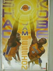 RARE KOBE BRYANT SHAQUILLE  O'NEAL LAKERS 2003 VINTAGE ORIGINAL NBA POSTER