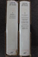 livre la pléiade n°113 et 114 roger martin du gard oeuvres 2 tomes 1957 NRF TBE