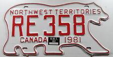 TARGA CANADA NWT Northwest Territories in forma orso 1981/1982. 12981..