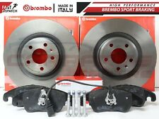 FOR AUDI A4 A5 S4 S5 Q5 08-11 FRONT GENUINE BREMBO COATED BRAKE DISCS PADS 345mm