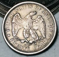 1875 S Twenty Cent Piece 20C Higher Grade DIE CRACKS Rare Silver US Coin CC5528
