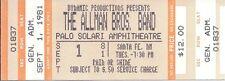 Original The Allman Brothers 1981 Unused Concert Ticket