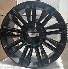 22 Cadillac 2017 Style Rims Satin Black Wheels Fit Escalade ESV GMC Tahoe LTZ