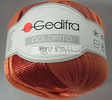 (155 €/kg): 500 Gramm Gedifra COLORITO, Bändchen m. Glanz, Fb.6921 Rost #1317