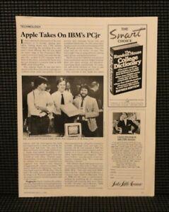 "Vtg 1984 Apple 2C Computer Article 8x10"" iiC Steve Jobs Wozniak Sculley IBM PCjr"