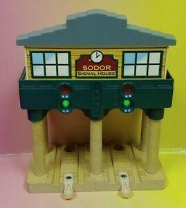 Sodor Signal House Gullane - Retired 2012 Thomas Wooden Railway Lights & Sounds