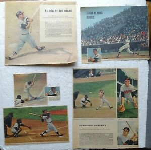 1960's Baltimore Orioles Color Sunday Newspaper Clippings; Boog Brooks Gentile