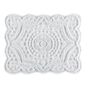 Scalloped Chenille Standard Size Pillow Sham Cover