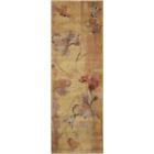 Somerset Beige 2 Ft. X 6 Ft. Floral Vintage Runner Rug