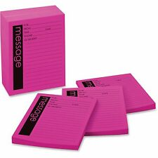 "3M Telephone Message Pad,3-7/8""x5-7/8"",50 Sheets/PD,12/PK,Pink 7662"