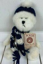 "Boyds Bears Best Dressed Series Bundles White Teddy Bear Knit Hat Scarf 8"" NWT"
