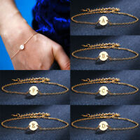 1 PC New Initial Anklet 26 Letters Bracelet Women  Golden Jewelry Gift