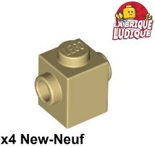 Lego - 4x Brique Brick Modified 1x1 Studs on 2 Sides beige/tan 47905 NEUF