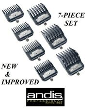 Andis PREMIUM METAL CLIP Blade GUIDE 7 pc COMB SET*Fit MASTER,Fade,USPro Clipper