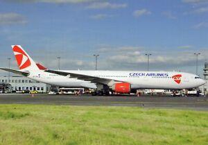 CSA Czech Airlines Airbus A330-323X OK-YBA Seen at Prague May 2013  Postcard