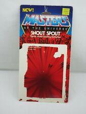 MOTU,Vintage,SNOUT SPOUT CARD BACK,Masters of the Universe,Original,He Man